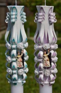 Lumanare de nunta sculptata LN 613 D46x90