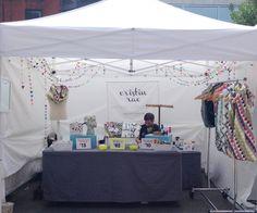 #CristinRae booth setup at Renegade Craft Fair Sep. 2013