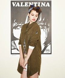 Long military style shirt by Hysteric Glamour! ロングSH