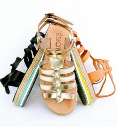 Premium quality handmade sandals, designed by Irene Sioti.  Find them here: www.esiot.gr