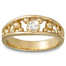 This will be my wedding ring -Diamond Icon Mickey Mouse Ring for Men -- 18 Karat Yellow Gold