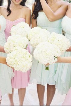 Hydrangea's, roses,  peonies, mini roses, tulips and baby's breath for my bouquet