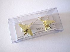 Origami earrings by simpleintrigue
