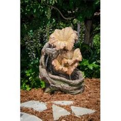 """Bond Manufacturing Y95369 Florian- 30"""" Fountain 4-Tier with LED Lamp #Floral * Pinterest Friends Only: Save 10% on everything on PatioProductsUSA.com with #coupon code PIN10 *"""