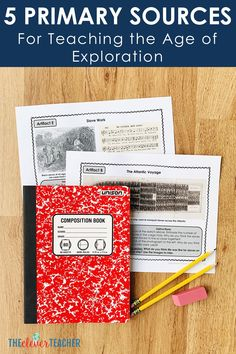 Use these 5 primary sources to create fun Age of Exploration lessons, activities and projects for your kids! These photos and documents will help bring history to life in your classroom. History Lesson Plans, World History Lessons, History Quotes, 7th Grade Social Studies, Teaching Social Studies, Primary Resources, Writing Resources, Teaching Us History, Teaching Time