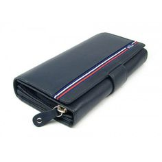 Modrá velká dámská kožená peněženka s dopravou od 69 Kč-peněženky AHAL Zip Around Wallet