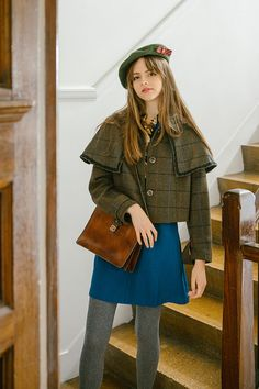Embodying the style icon detective sherlock holmes, we present to you the h Cozy Fashion, Retro Fashion, Autumn Fashion, Vintage Fashion, Fashion Outfits, Womens Fashion, Outfit Invierno, Teen Girl Outfits, Sweet Dress