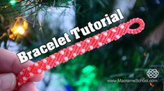 DIY easy: Macramé Stripes with Candies - Bracelet Tutorial by Macrame School. Please watch more macrame tutorials of bracelets with beads and knotted jewelry...