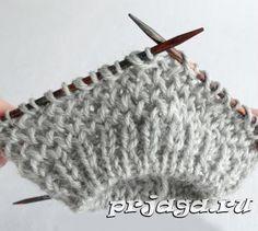 Узор «Соты» спицами при круговом вязании