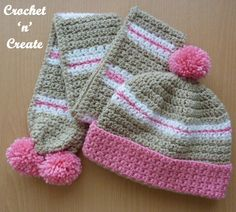 This crochet childs hat-scarf set is ideal to wrap up your little one's for Winter for those outdoor adventures ................