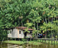 Casas brasileiríssimas | Livro Brasil invisível, do fotógrafo Valdemir Cunha e textos de Xavier Bartaburu | Na foto: palafita nas cercanias de Belém, PA.