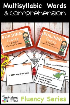 Use Task Cards for Improving Fluency & comprehension for reading practice, guided reading small groups, reading interventions and special education. Activities that bulid multisyllabic phonics and vocabulary. #secondgrade #thirdgrade #conversationsinliteracy #phonics #fluency #comprehension #classroom #elementary #anchorcharts #readinginterventions #guidedreading 2nd grade, 3rd grade, 4th grade, 5th grade
