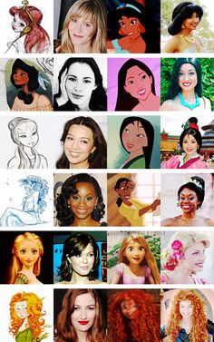 Princesses. From concept art to face character.