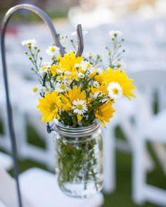 wedding flowers yellow white
