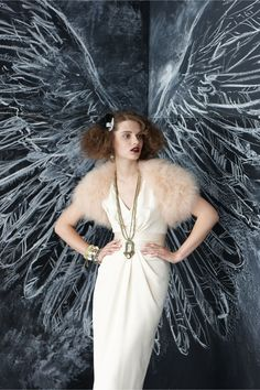 Dress, Pose, and chalked Wings!