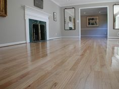 ... Red oak floor refinished from a dark brown stain to natural ...