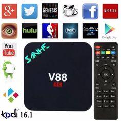 รีบเป็นเจ้าของ  SCISHION V88 TV Box Android 5.1 WiFi Set Top Box Rockchip 3229Quad-core H.265 4K 1GB 8GB Set-top Box Smart Media Player - intl  ราคาเพียง  1,000 บาท  เท่านั้น คุณสมบัติ มีดังนี้ SCISHION V88 plus TV Box Android 5.1 WiFi Set Top BoxRockchip 3229 Quad-core H.265 4K 2GB 8GB Set-top Box Smart MediaPlayer&-&Rockchip 3229, quad-core CPU up to1.5GHz, rapid and stable, can give you a high-speedfeedback and smooth response -&Android 5.1: it can easily to install oruninstall…