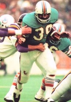 Larry Csonka set a then-Super Bowl record by rushing for 145 yards on 33 carries against the Minnesota Vikings in Super Bowl VIII. The Dolphins won 24-7, their second Lombardi Trophy in as many years.