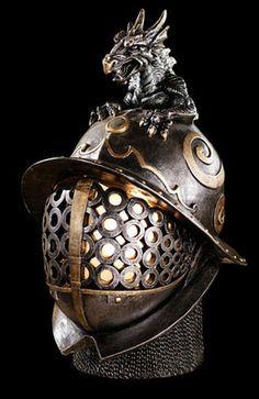 Medieval Helmet Illuminated Sculpture on eBay!