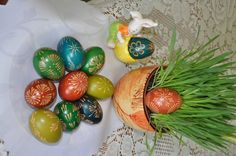 traditional polish easter eggs - wax technique