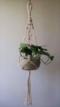 Macrame Plant Holder, Plant Holders, Diy Plant Hanger, Modern Macrame, Macrame Tutorial, Macrame Projects, Macrame Knots, Macrame Patterns, Plant Wall