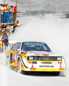 """My first impression was that I wouldn´t be fast enough to read the pace notes in this car."" - Christian Geistdörfer co-driving Walter Röhrl in the evolution Audi Quattro S1."