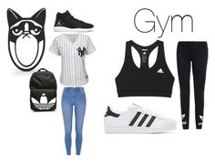 """""""Back To School"""" by lildae on Polyvore featuring Majestic, River Island, NIKE, adidas and adidas Originals"""