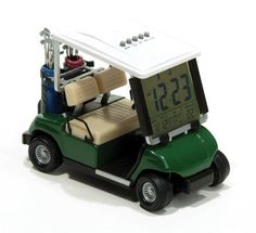 ProActive Sports Golf Cart Clock, White (1:18 Scale) by ProActive. $24.45. This authentic looking 1:18 scale golf cart displays time, date, temperature, and features a timer.  Comes in its own gift box.