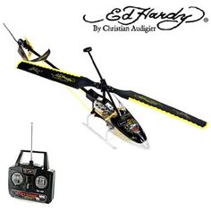 Ed Hardy Sky Hawk R/C Helicopter #fun #radiocontrolled #kids #adults #toys