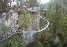 I may have to be air-lifted in, but it's beautiful! Cliffwalk and Capilano Suspension Bridge, Vancouver.