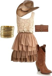 30 Chic and Cute Cowgirl Outfits @GirlterestMag #Cowgirl #Outfits #country…