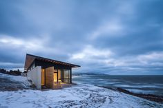 Completed in 2015 in Inverness County, Canada. Images by Doublespace Photography. The Lookout at Broad Cove Marsh is situated delicately along a narrow piece of land between a tree-lined country road and a dramatic ocean-side...