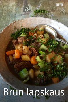 Norwegian Cuisine, Norwegian Food, Pot Roast, Stew, Sweet Potato, Entrees, Recipies, Food And Drink, Healthy Eating