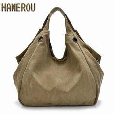 18.50$  Watch now - http://alivxu.shopchina.info/go.php?t=32553936323 - Luxury Handbags New Fashion Canvas Women Bag Large High Quality Hobo Messenger Bags Famous Top-Handle Bags 2017 Brand Ladies Sac  #buyonline