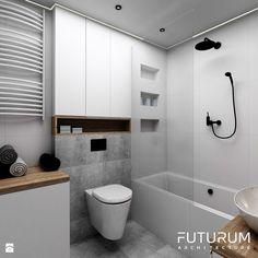 Projekt wnętrza, Bajeczna, Kraków - Mała łazienka w bloku bez okna, styl nowoczesny - zdjęcie od FUTURUM ARCHITECTURE