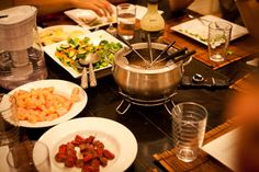 from 71 toes:fondue  My kids' eyes sparkle when I tell them we're having fondue for dinner.