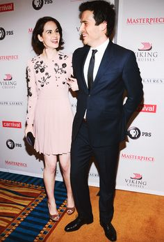 Michelle Dockery and Rob James-Collier attend 'Downton Abbey' Season Four cast photo call at Millenium Hotel on December 10, 2013 in New York City.