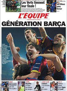 """'L'Équipe' dice que el Barça es """"uno de los mejores equipos de la historia"""""""