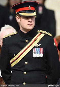 ...Members of the British Royal Family attended a Service of Commemoration at St. Paul's Cathedral this morning, honouring the British military's involvement in Afghanistan which has now come to an end... Prince Harry, March 13, 2015 | Royal Hats
