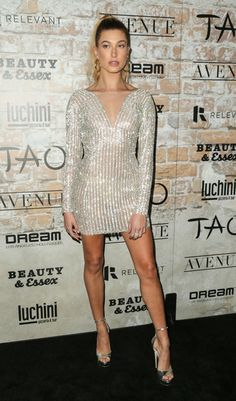 Hailey Baldwin Photos Photos - Model Hailey Baldwin is seen attending day one of TAO, Beauty & Essex, Avenue and Luchini LA Grand Opening. - TAO, Beauty & Essex, Avenue and Luchini LA Grand Opening