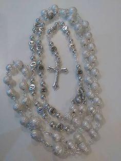 Strieborný ruženec s menom a dátumom E042 / mindarka - SAShE.sk Diamond, Bracelets, Jewelry, Charm Bracelets, Jewellery Making, Jewlery, Arm Bracelets, Diamonds, Bangles