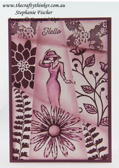 www.thecraftythinker, Retiform Technique, #inkitstampit, Beautiful You, Country Livin', #thecraftythinker, Stampin Up