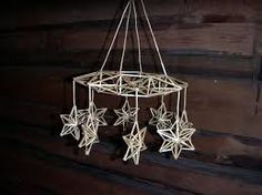 Insight India : 4 Cute Ideas for Christmas Christmas Projects, Holiday Crafts, Christmas Crafts, Christmas Ornaments, Mobiles, Star Mobile, Diy Arts And Crafts, Craft Stick Crafts, Craft Sticks