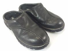 UGGS Classic Clogs Mens 7 Black Leather 5348 5.5 UK 38 EU #UGGAustralia…