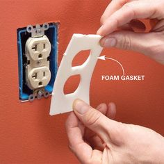 Seal electrical boxes with foam gaskets   19 Cheap & Innovative Ways To Green Your Home