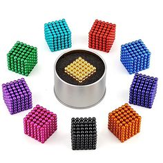 216 pcs Magnet Toy Magnetic Balls Building Blocks Super Strong Rare-Earth Magnets Neodymium Magnet Stress and Anxiety Relief Focus Toy Office Desk Toys Kid's / Adults' Boys' Girls' Toy Gift / DIY , Iq Puzzle, Cube Puzzle, Puzzle Toys, Toys For Boys, Kids Toys, Toddler Toys, Office Desk Toys, Figet Toys, Cool Fidget Toys
