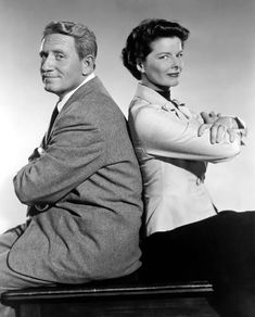 Adam's Rib (1949). Spencer Tracy and Katherine Hepburn as married lawyers who find themselves going up against one another in court. Hilarity and trouble ensue. These two were in love in real life, of course. Tracy had a rep as a very tough person to like, let alone tolerate. Took a strong woman to make that relationship work.