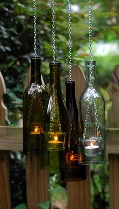 Cool Wine Bottles Craft Ideas (2)                                                                                                                                                                                 Más