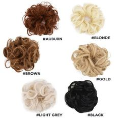 2 Seconds to Get Your Gorgeous Messy Bun Look! With the Messy Rose Bun, rock that beautiful hair updo confidently again while enjoying the attention its gettin Rose Bun, Rose Hair, Professional Updo, Perfect Bride, Elastic Hair Bands, Brown Hair Colors, Bride Hairstyles, Synthetic Hair, Auburn