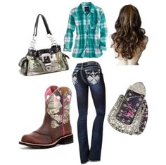 <3 Cowgirl Outfits, Fashion Beauty, Outfit Ideas, Cute Outfits, Pretty, Polyvore, Style, Pretty Outfits, Swag
